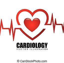 cardiologia, ícone