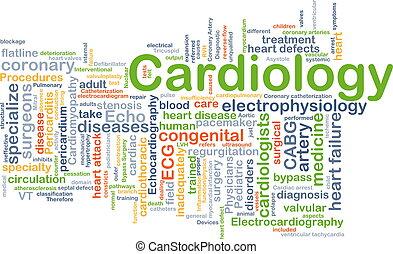 cardiologia, fondo, concetto