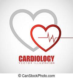 cardiologie, pictogram