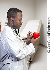 Cardiologist - A black male African American doctor...
