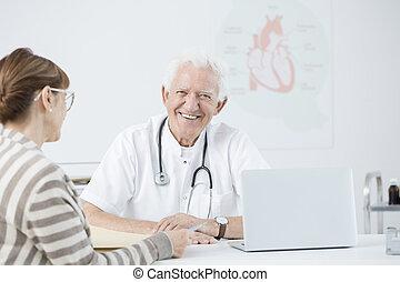 cardiologue, patient