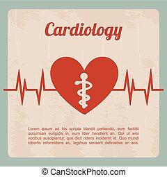 cardiology design over blue background vector illustration...