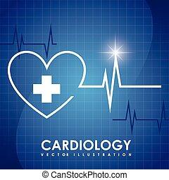 cardiology graphic design , vector illustration