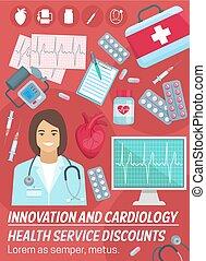 Cardiology, heart health. Cardiologist doctor