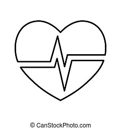cardiology heart icon. Medical and health care concept.