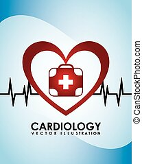 cardiology icon design, vector illustration eps10 graphic