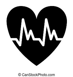 Cardiology symbol icon illustration