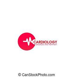 Cardiology vector icon