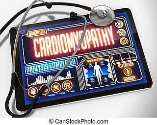 Cardiomyopathy on the Display of Medical Tablet. -...