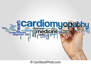 cardiomyopathy, palabra, nube