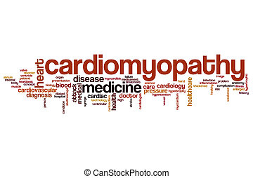 Cardiomyopathy word cloud