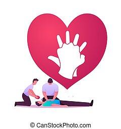 Cardiopulmonary Resuscitation Cpr Emergency Procedure. Medic...