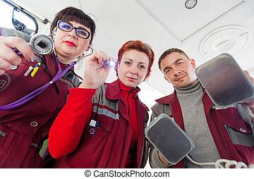 Cardiopulmonary resuscitation paramedics team