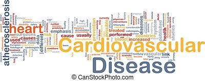 cardiovascular, doença, fundo, conceito