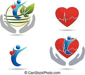 cardiovascular, sjukdom, behandling, ikonen