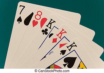 cards 03 poker 3 of kind