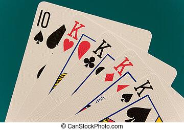 cards 07 poker 4 of kind