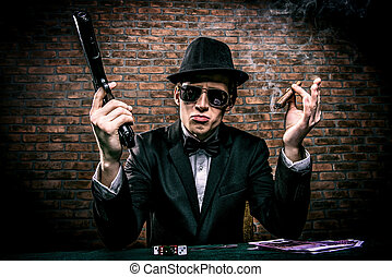 cards and money - Cool gangster with a bunch of money ...