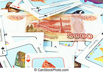 Cards and money