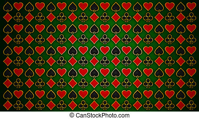 Cards and poker. Red & black texture
