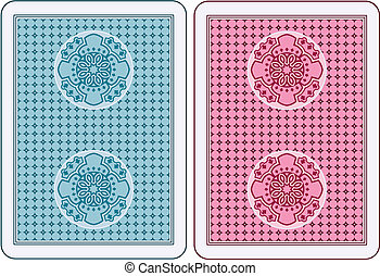 Cards back - Playing cards back abstract design
