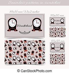 Cards Clocks from Wonderland