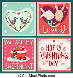 Cards for Valentine's day - Valentine's day vector cards ...