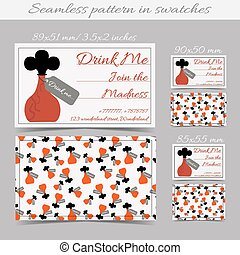 Drink me bottle bottle from alice in wonderland with a tag eps cards templates drink me bottle from wonderland pronofoot35fo Images