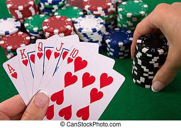 cards, with, покер, договоренность