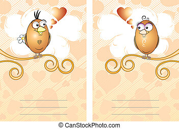 Cards with birds
