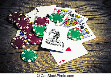 cards with joker and counters
