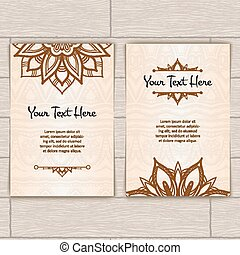 Cards With Pattern of Henna