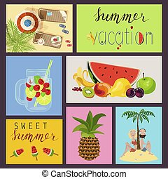 cards with summer elements
