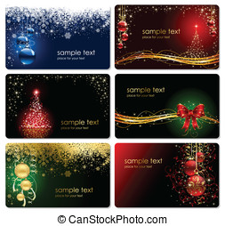 Cards,Christmas, stars, bell