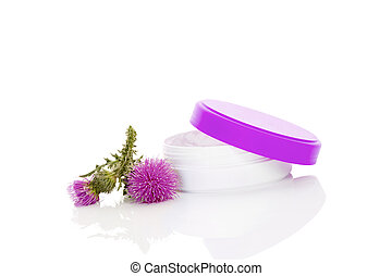 Carduus flower creme with flowers - Carduus creme with...