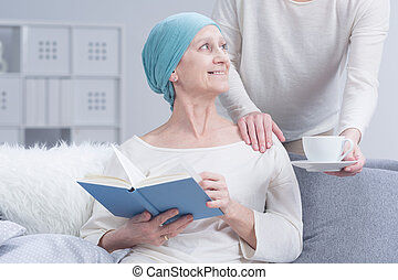 Care and rest will help to get better - Woman after...