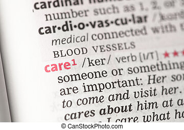 Care definition in the dictionary
