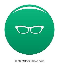 Care eyeglasses icon green