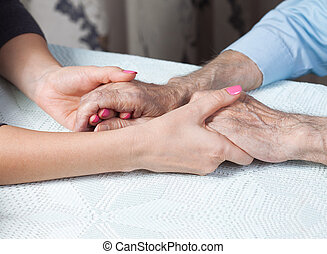 Care is at home of elderly.