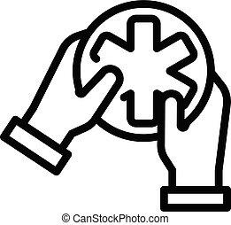 Care medicine icon, outline style