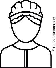 Care nurse icon, outline style