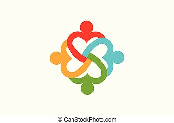Care People group. Heart Vector Logo
