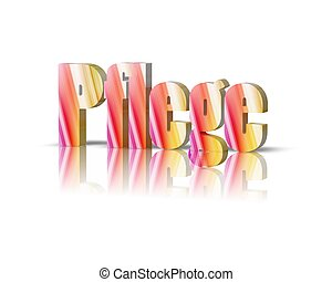 care / pflege 3d word