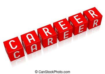 Career - 3D cube word