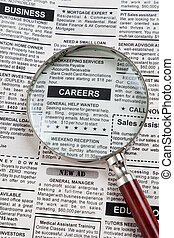 Career Ad - Fake Classified Ad, newspaper, business concept.