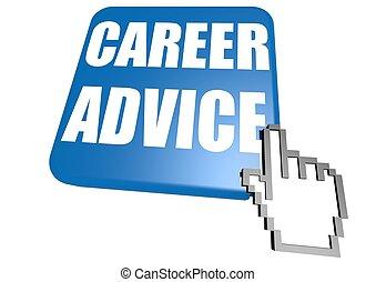 Career advice button with cursor