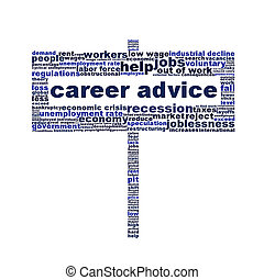 Career advice symbol creative