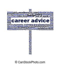 Career advice symbol creative