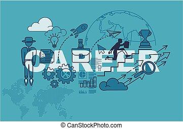 Career banner background design concept