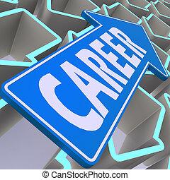 Career blue arrow